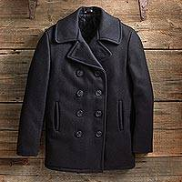 Men's wool peacoat, 'In the Navy Now' - U.S. Navy Wool Peacoat