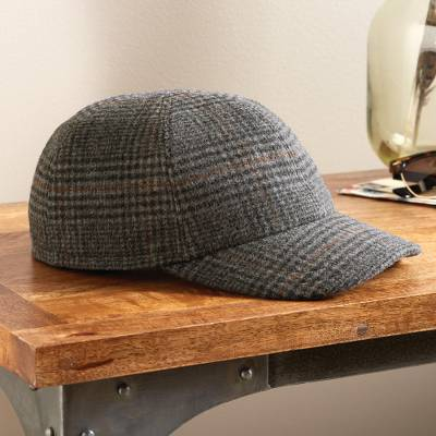 Men's wool baseball hat, 'Drive On' - Goretex Waterproof Wool Driving Baseball Hat