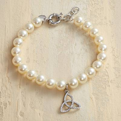 handmade bracelets pearl personalised angel ivory silver bracelet lisa chain and