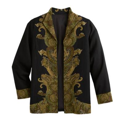 Paisley Flourish Wool Jacket