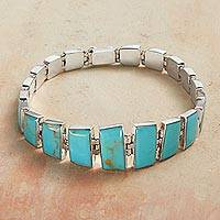 Featured review for Turquoise link bracelet, Andean Treasure