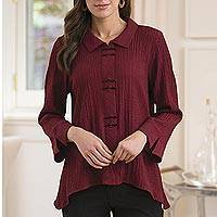 Featured review for Rayon blend travel shirt, Chopsticks