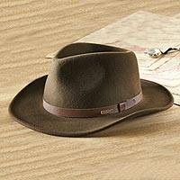 Men's crushable felt travel hat, 'Explorer' - Crushable Felt Travel Hat