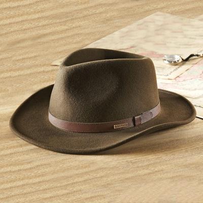 1d741f020 Crushable Felt Travel Hat, 'Explorer'