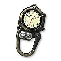 Mini carabiner clip watch, 'Time Out in Bronze' - Metal Carabiner Clip Watch
