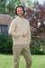 Men's wool pullover sweater, 'River Tweed' - Men's Natural Colored Wool Sweater with Elbow Patches thumbail