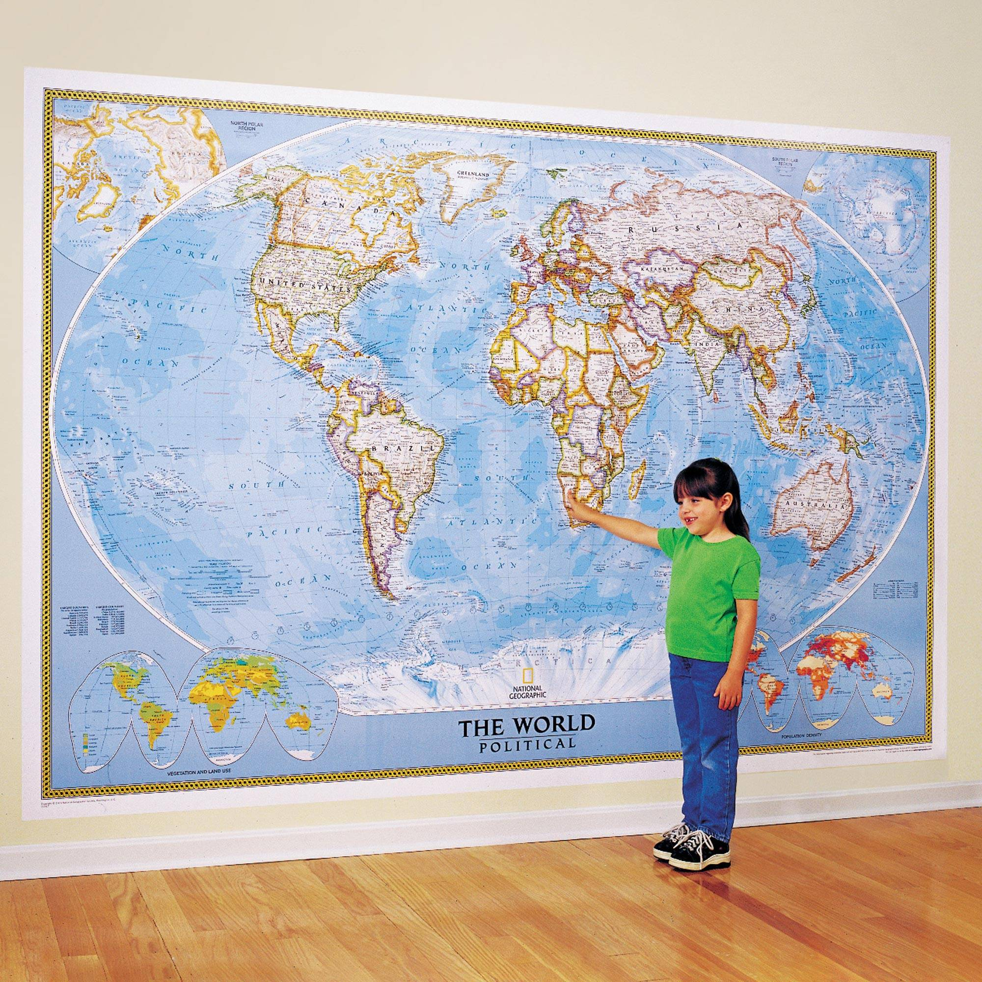 Large Clic World Wall Map Mural - Clic | NOVICA on