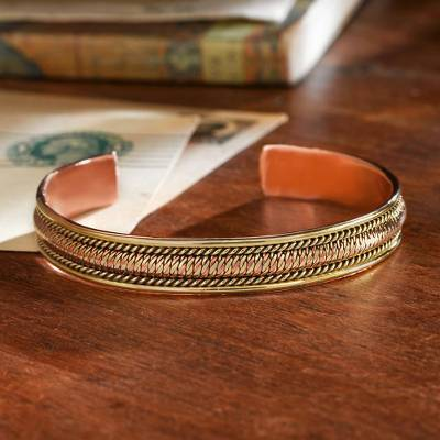 Copper And Br Cuff Bracelet Himalayan Legacy Handcrafted