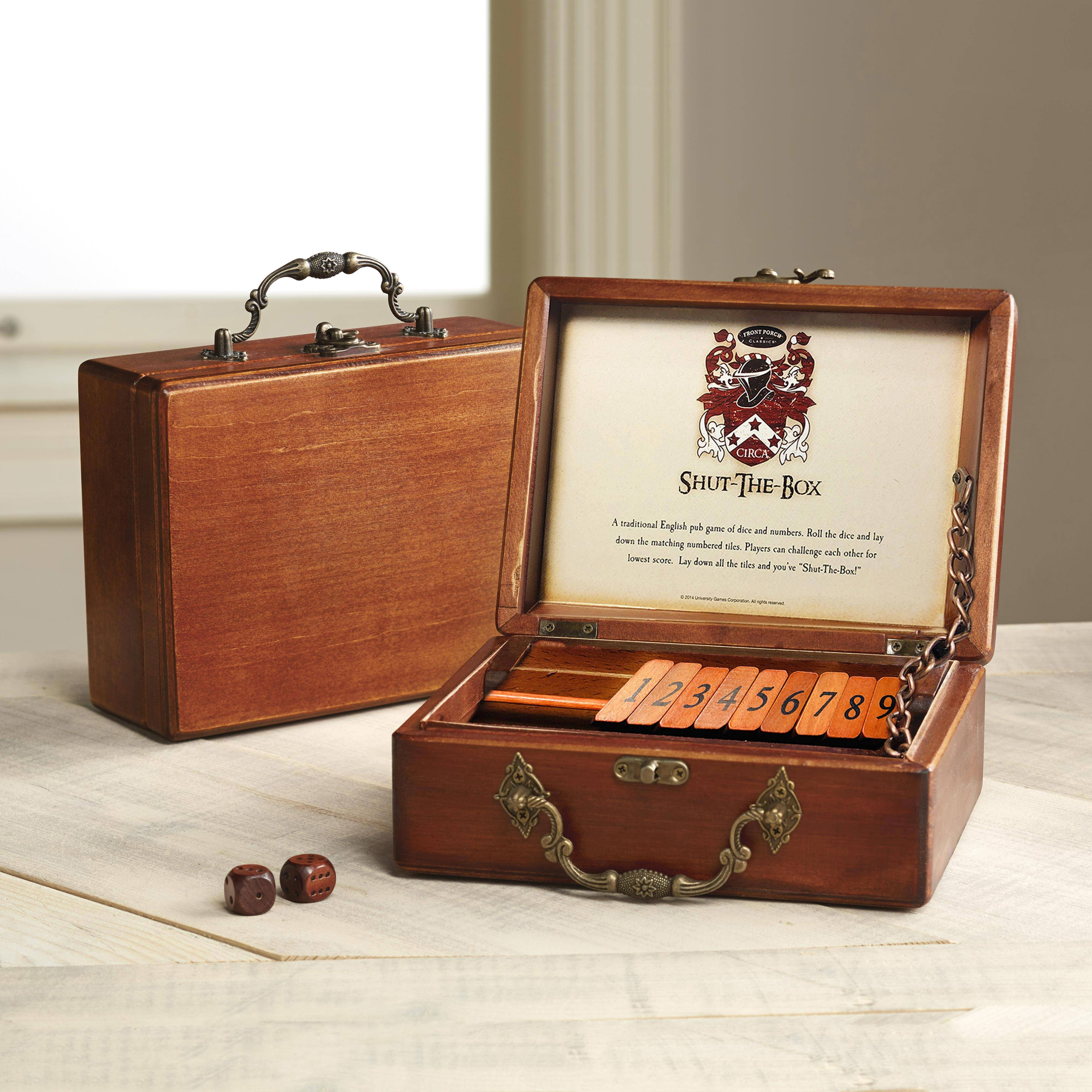 card game set wood handcrafted india full house place to call home box set Wood game, u0027Shut The Boxu0027 - Shut the ...