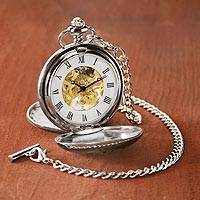 Pocket watch, 'As Time Goes By' - Celtic Knot Pewter Pendant Watch