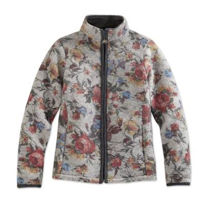 Italian Alps Floral Wool Blended Jacket