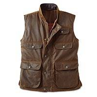 Mens cotton oilskin vest, Outback
