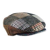 Featured review for Mens wool patchwork cap, Donegal Patch