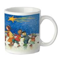 UNICEF ceramic mug, 'Shooting Star' - Shooting Star UNICEF Ceramic Holiday Mug