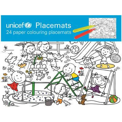 UNICEF Market | UNICEF Paper Coloring Placemats (Set of 24) - UNICEF ...