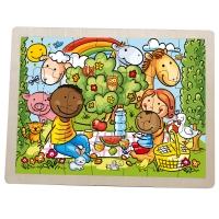 UNICEF Picnic Puzzle - Wooden Picnic Scene Jigsaw Puzzle
