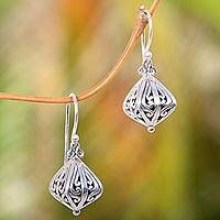 Sterling silver dangle earrings, 'Silver Fruit' - Women's 925 Sterling Silver Earrings from Indonesia