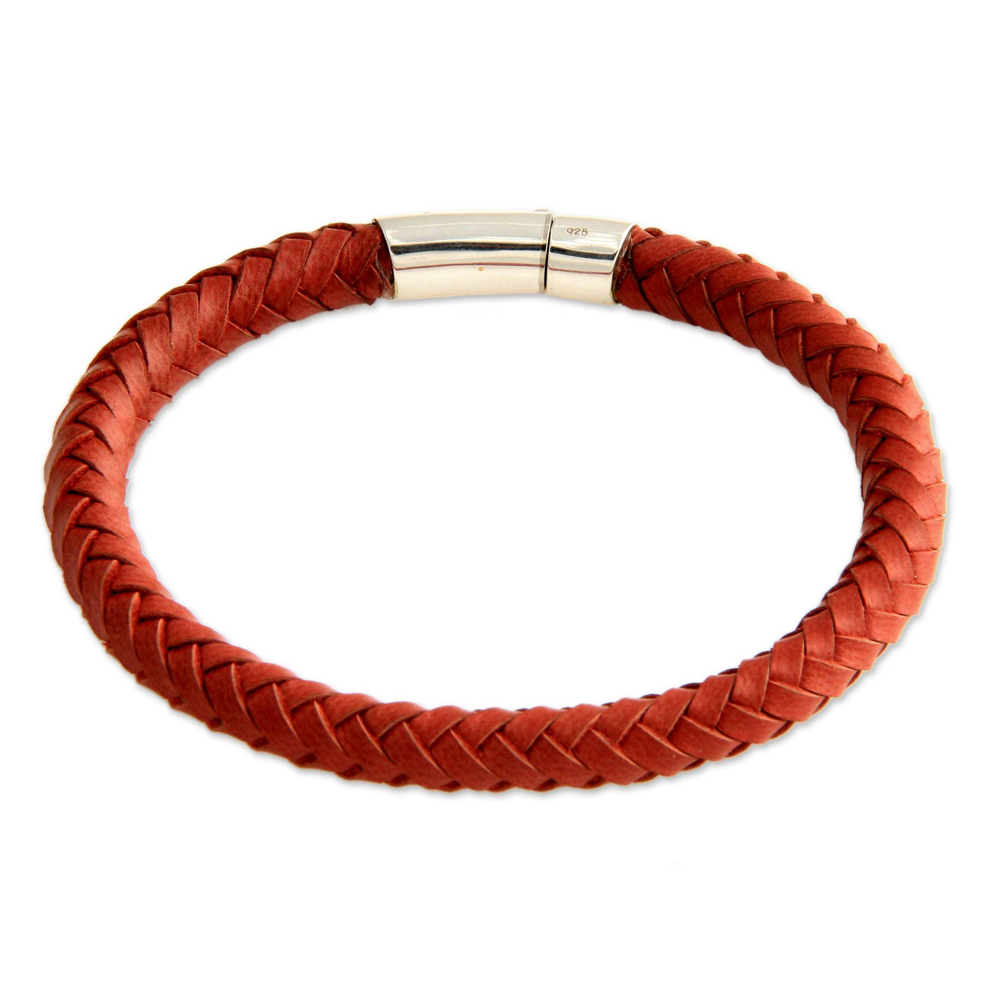 men gold bali mens bracelet leather products bangles clasp bangle orange with s lock nialaya