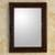 Mirror, 'Colonial Baroque' - Artisan Hand Carved Wood Wall Mirror  (image 2) thumbail