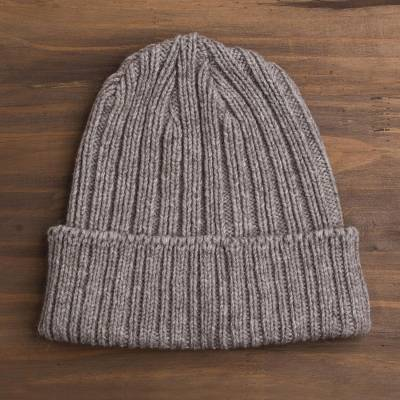 07612c5945a Wool And Bison Down Blend Knit Beanie Hat - American Bison Beanie ...