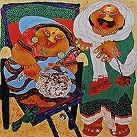 Giclée print, 'Couple' by Shyamal Mukherjee - Limited Edition Collectible Fine Art Print from India