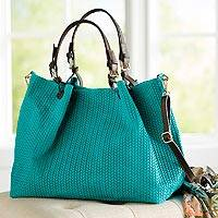 Suede travel bag, 'Italian Herringbone' - Italian Herringbone Suede Travel Bag in Turquoise