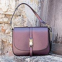 Novica Leather travel bag, Taupe Traveler