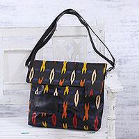 Novica Batik leather sling, Beautiful Trend