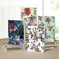 UNICEF Nature motif all-occasion cards (set of 12) - Flowers and Feathers UNICEF All-Occasion Cards (set of 12)