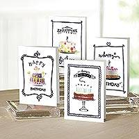 UNICEF Cake motif birthday cards (set of 12) - Delicious Birthday Cakes UNICEF Birthday Cards  (set of 12)