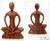 Wood sculpture, 'Meditative Calm' - Handcrafted Wood Yoga Sculpture (image 2) thumbail