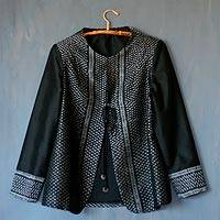 Silk jacket, 'Thai Distinction' - All Silk Thai Style Women's Jacket