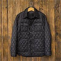 Featured review for Mens quilted nylon shirt jacket, Acadia