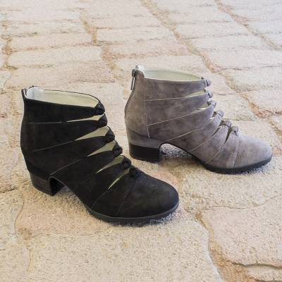 Nubuck ankle boot, Parallels
