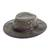 Men's waxed cotton hat, 'Blyde River' - Men's Waxed Cotton Tin Cloth Hat in Olive (image 2a) thumbail