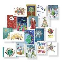 UNICEF holiday card assortment, '2018 Holiday Collection' (set of 20) - UNICEF Assorted Holiday Cards Boxed Set of 20