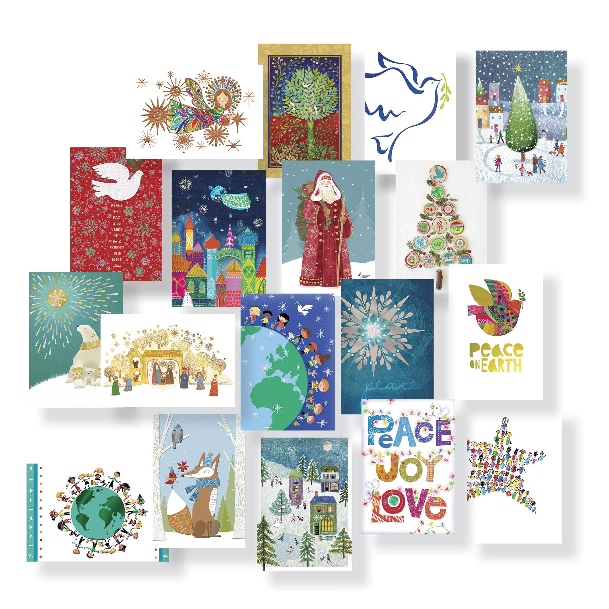 Unicef Christmas Cards.Unicef Assorted Holiday Cards Boxed Set Of 20 2018 Holiday Collection