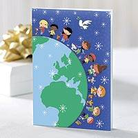UNICEF holiday cards, 'Children Around the World' (set of 12) - UNICEF Holiday Cards Boxed Set of 12