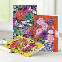 UNICEF everyday cards, 'Bright and Beautiful Blossoms' (set of 12) - UNICEF Everyday Floral Cards Boxed Assortment of 12