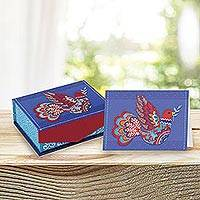 UNICEF everyday cards with keepsake box, 'Peace Will Prevail' (set of 18) - UNICEF Keepsake Box with 18 Everyday Notecards