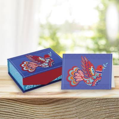 UNICEF everyday cards with keepsake box, 'Peace Will Prevail' (set of 18) - UNICEF All-Purpose Cards with Keepsake Box (set of 18)
