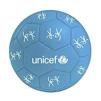 UNICEF soccer ball, 'Goal Time in Blue' - UNICEF Sports Soccer Ball with Logo Size 5