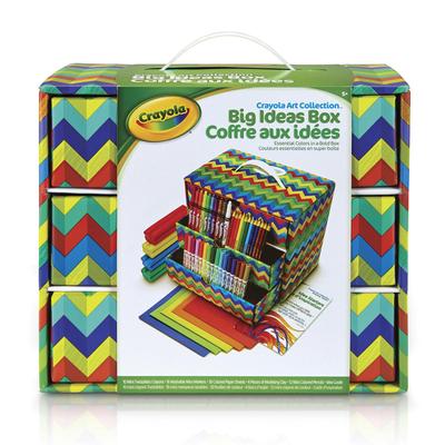 unicef market art supplies with easy storage organizer crayola