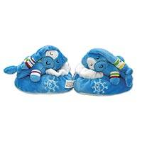 UNICEF baby shoes, 'Plush Pal' (blue) - Blue Plush UNICEF Shoes with Gift Box