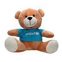 UNICEF teddy bear, 'Buttons' - UNICEF Teddy Bear with Logo T-Shirt