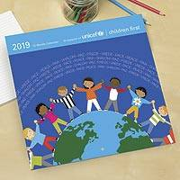 UNICEF 2019 US wall calendar, 'Children's Artwork' - UNICEF 2019 Wall Calendar with Children's Artwork