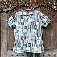 Men's cotton shirt, 'Hawaiian Board Room' - Men's Hawaiian Board Room Cotton Shirt