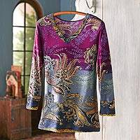 Rayon travel top, Exotic Boteh