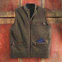 Men's Scottish Wool Travel Vest - Men's Scottish Wool Travel Vest