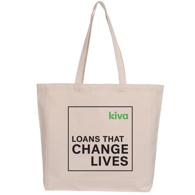 Kiva Tote with Tagline Logo - Kiva Tote with Logo